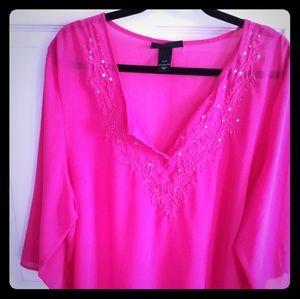 Lovely sheer polyester tunic